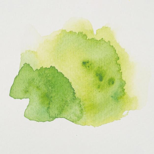 Mistura de aquarela verde e amarela Foto gratuita