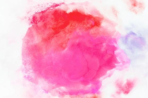 Mistura de aquarela vermelha e fúcsia Foto Premium