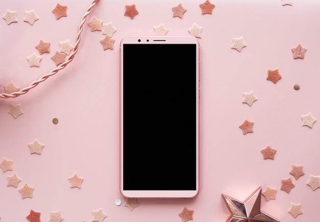 Misturado de fundo com fundo rosa bonito vertical Foto Premium