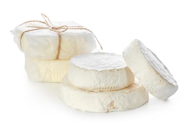Misture o queijo isolado no branco Foto Premium