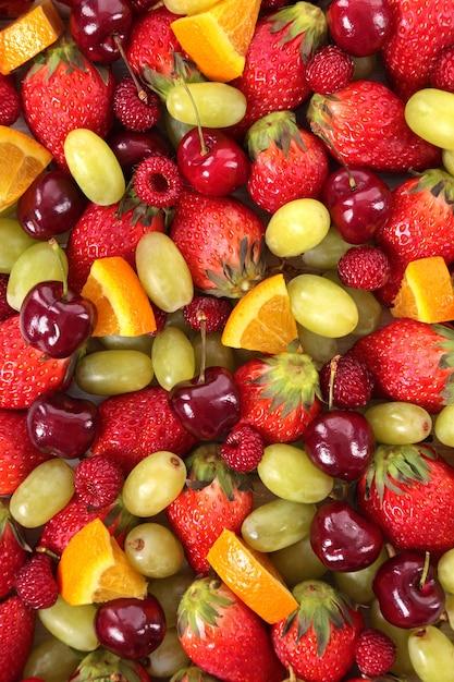 Mixed frutas fundo de verão Foto gratuita