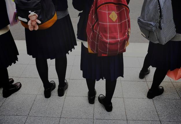 Mochila japonesa de escolaridade de estudante Foto gratuita