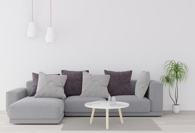 Mock-se cartaz com vintage minimalista pastel hipster minimalismo loft fundo interior, flo de madeira Foto Premium