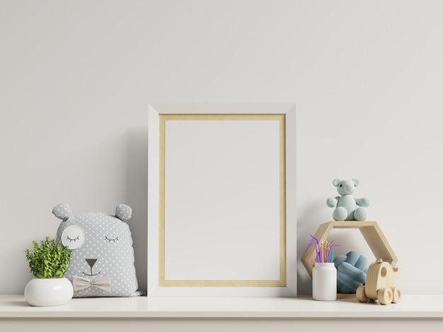 Mock-se cartazes no interior do quarto de criança. Foto Premium