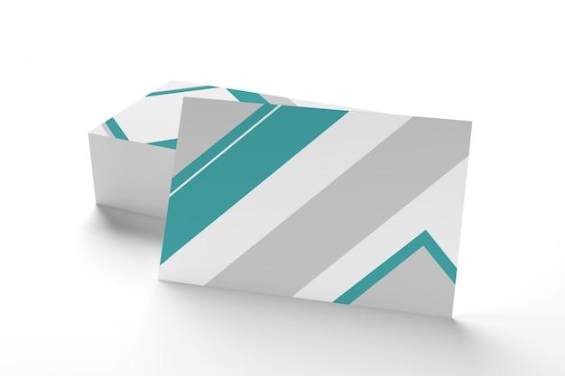 Mock-se do businesscard em um fundo branco ing Foto Premium