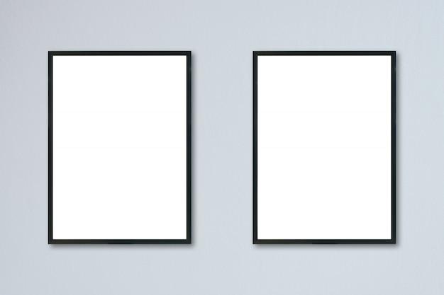Mock-se quadro em branco na parede do quarto Foto Premium