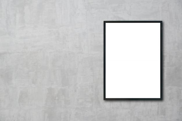 Mock-se quadro em branco pendurado na parede do quarto Foto Premium