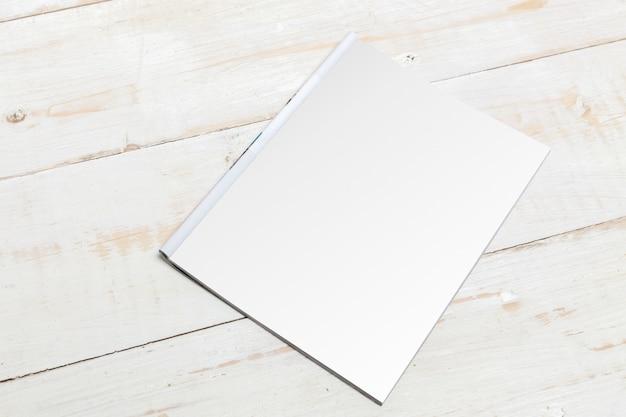 Mock up, papel fotográfico, folha branca Foto Premium