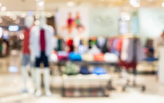 Moda compras foto desfocada abstrata de loja de moda Foto Premium