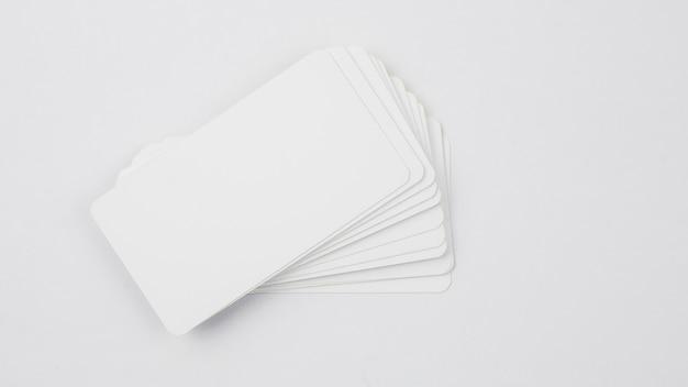 Modelo de cartão de visita em branco Foto gratuita