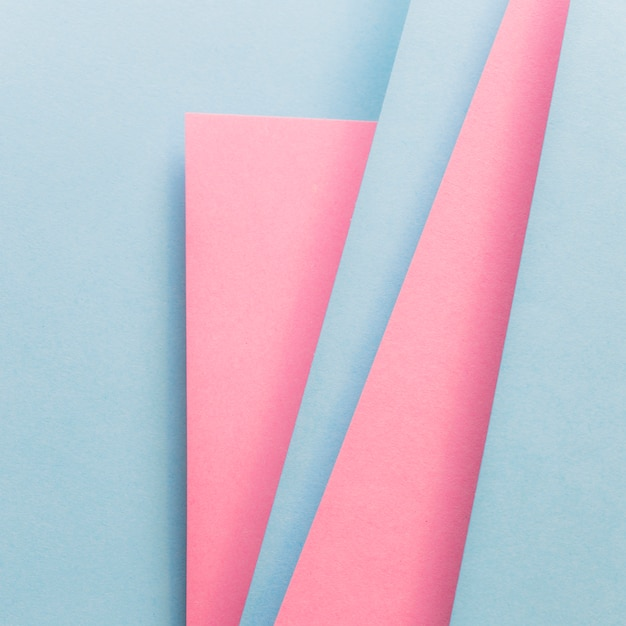 Modelo de design de material de layout de capa azul e rosa Foto gratuita
