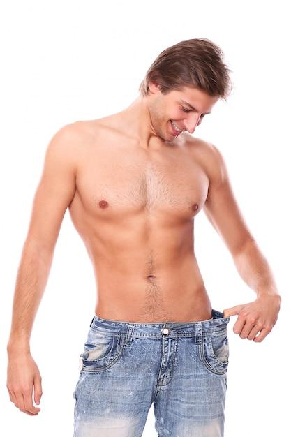 Modelo de homem sem camisa Foto gratuita