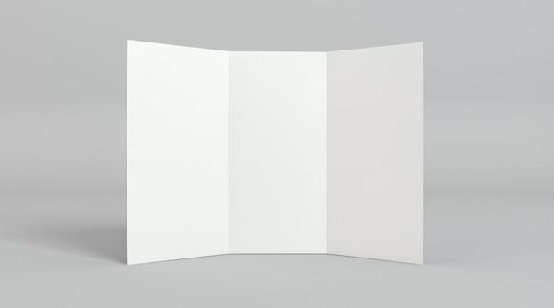 Modelo de impressão de folheto com três dobras de vista frontal Foto gratuita