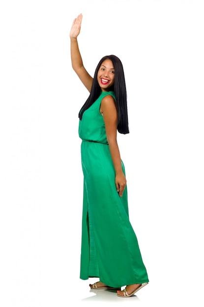 Modelo de mulher legal isolado no branco Foto Premium
