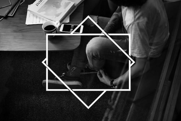 Modelo de tag de selo de logotipo em branco Foto gratuita