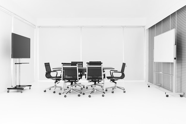 Moderna sala de conferências brilhante. Foto Premium