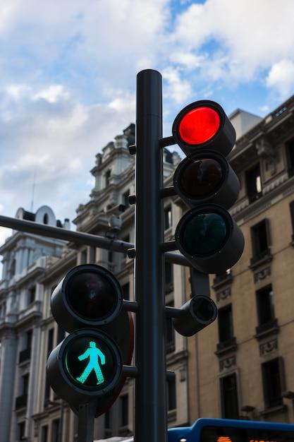 Modernos semáforos Foto Premium
