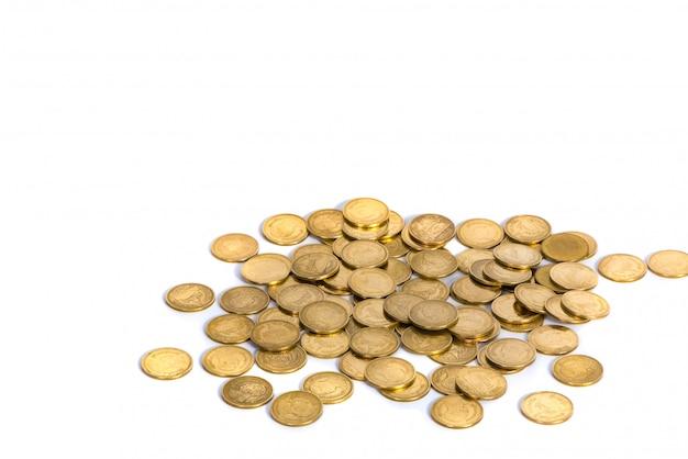 Moedas de ouro Foto Premium