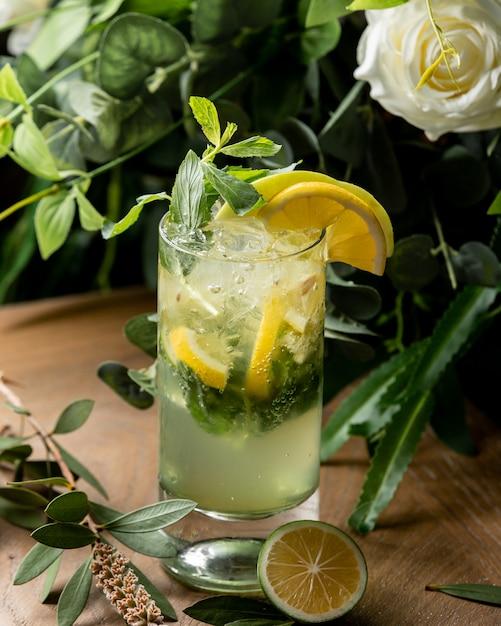 Mohito cocktail com limão e hortelã Foto gratuita