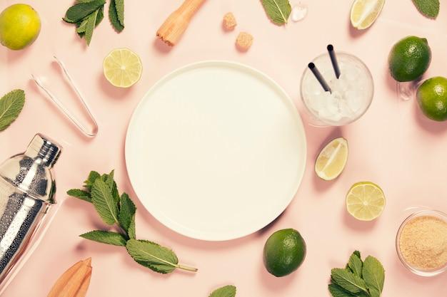 Mojito cocktail ingredientes Foto Premium