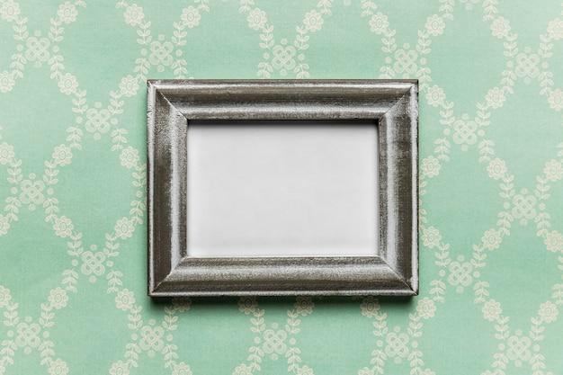 Moldura branca vintage com fundo padrão Foto gratuita