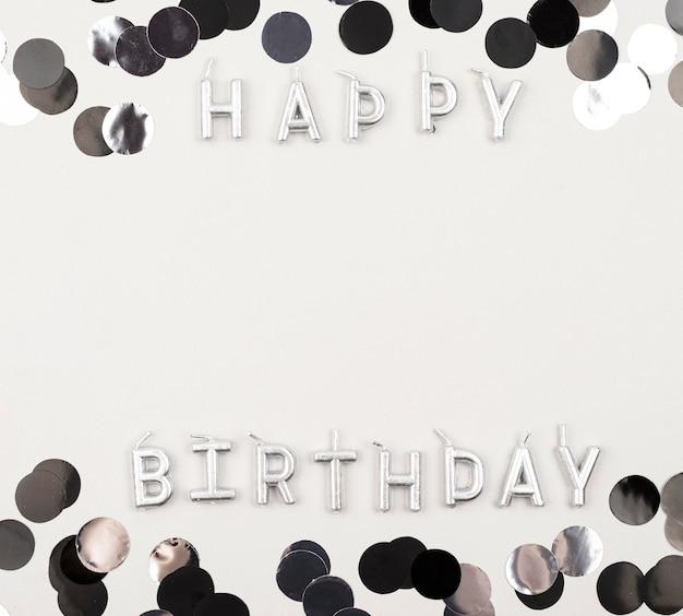 Moldura de aniversário plana com cópia-espaço Foto gratuita