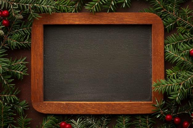Moldura de madeira de close-up com maquete Foto gratuita