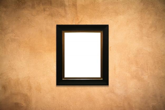 Moldura de madeira no antigo fundo de parede Foto Premium