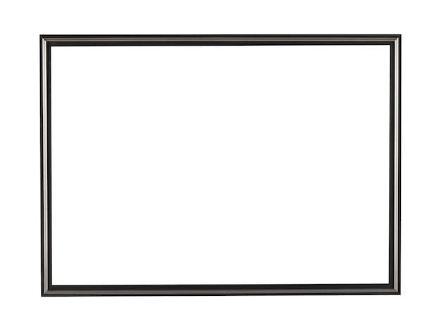 Moldura de metal quadrada preta para pintura ou quadro isolado em um fundo branco Foto gratuita