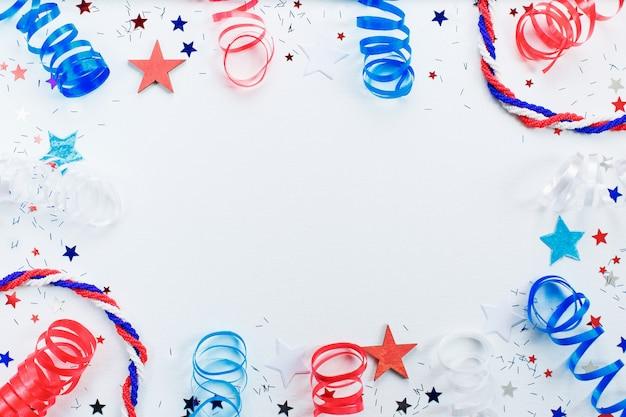 Moldura do dia da independência americana Foto Premium