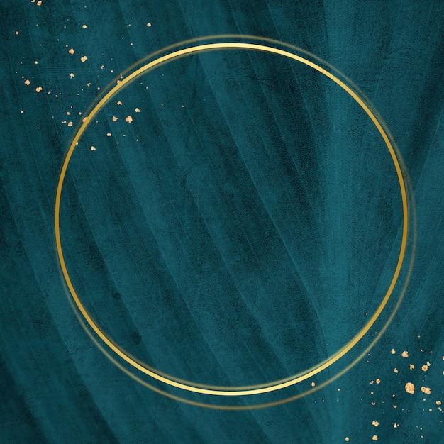 Moldura dourada em um cartão verde Foto gratuita