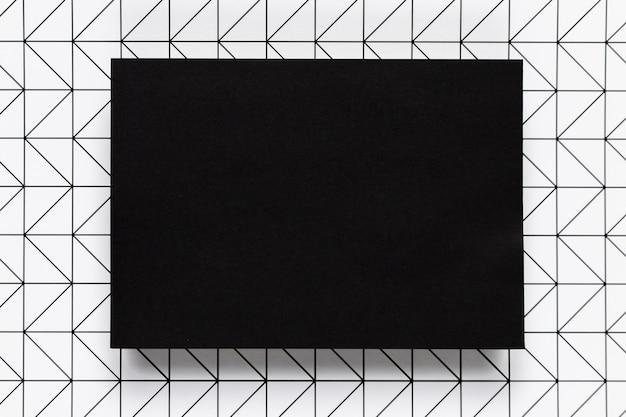 Moldura elegante preta com fundo padrão Foto gratuita