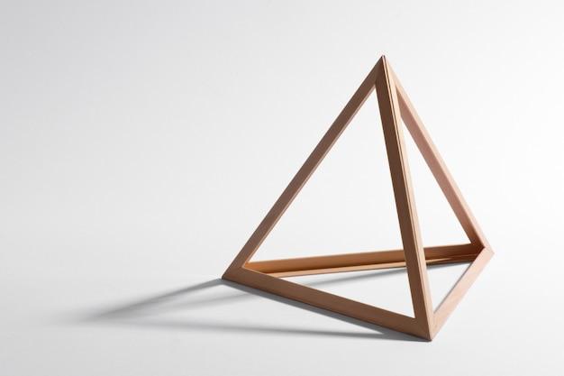 Moldura triangular de madeira Foto Premium