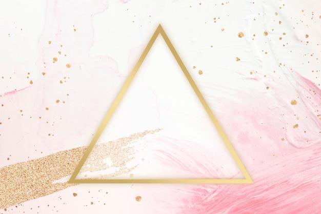 Moldura triangular feminina Foto gratuita