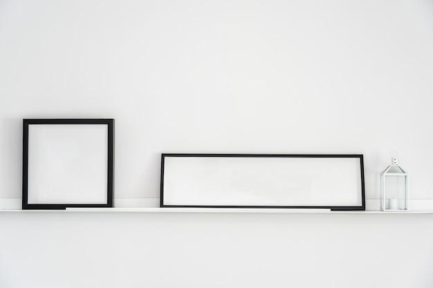 Moldura vazia com cópia espaço decoração interior Foto gratuita
