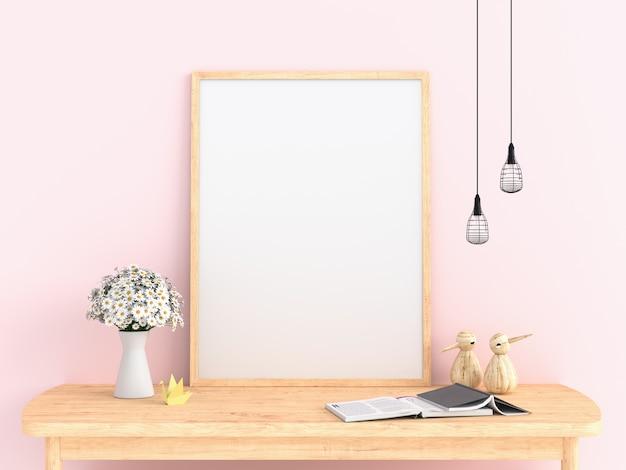 Molduras para fotos em branco para maquete Foto Premium