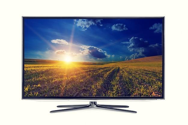 Monitor 4k isolado no branco Foto Premium