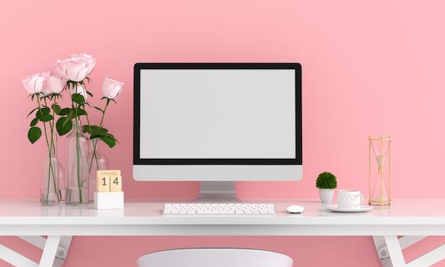 Monitor de computador para maquete Foto Premium