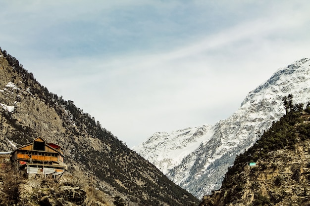 Montanha neve, em, kalam, swat, paisagem paisagem Foto Premium