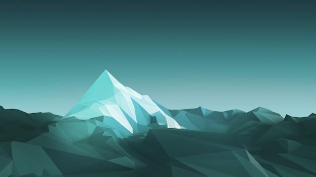 Montanhas de baixo poli Foto Premium