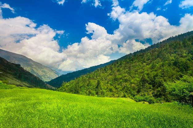 Montanhas do himalaia Foto Premium