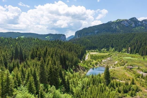 Montanhas dos cárpatos na roménia Foto Premium