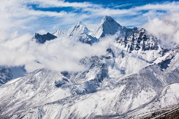 Montanhas, região everest Foto Premium