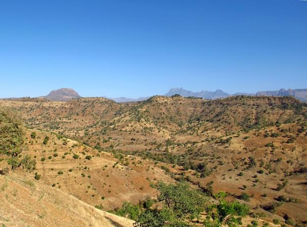 Montanhas simeon na etiópia, áfrica Foto Premium