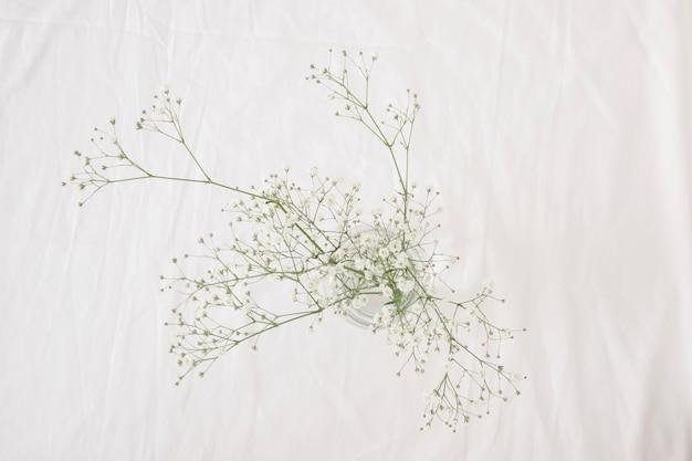 Monte de ramos de planta verde fina com flores em vaso Foto gratuita