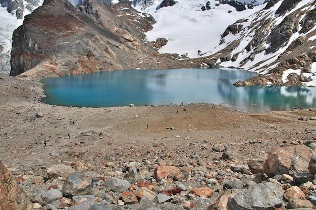 Monte fitz roy perto de el chalten na patagônia argentina Foto Premium