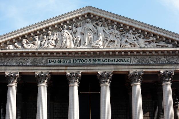 Monumento da igreja de la madeleine paris, vista frontal Foto gratuita