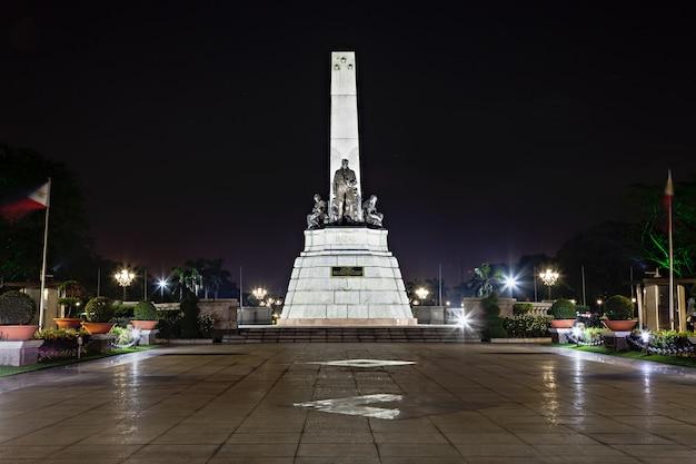 Monumento de josé rizal Foto Premium