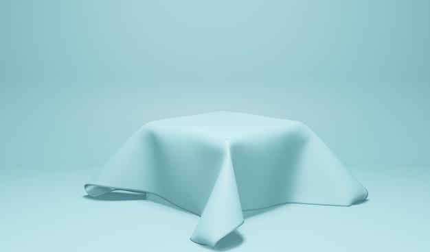Mostruário de produto em tecido, cor azul Foto Premium