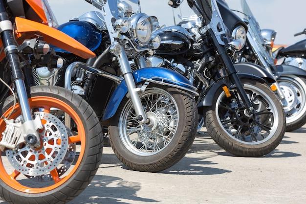 Motos coloridas Foto Premium